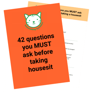 42 questions you must ask before accepting a housesit